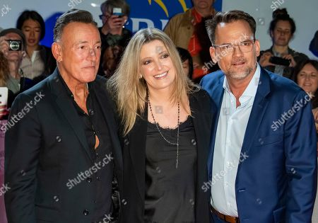 Bruce Springsteen, US movie executive Carolyn Blackwood and US director Thom Zimny arrive for the premiere of the movie Western Stars during the 44th annual Toronto International Film Festival (TIFF) in Toronto, Canada, 12 September 2019. The festival runs from 05 September to 15 September 2019.
