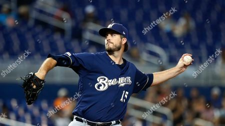 Editorial picture of Brewers Marlins Baseball, Miami, USA - 12 Sep 2019