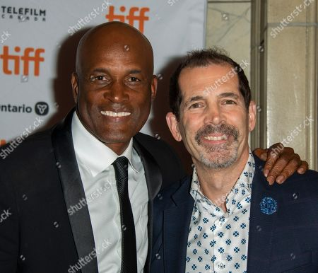 Kenny Leon (L) and US writer Christopher Demos-Brown (R) arrive during the 44th annual Toronto International Film Festival (TIFF) in Toronto, Canada, 12 September 2019. The festival runs from 05 September to 15 September 2019.