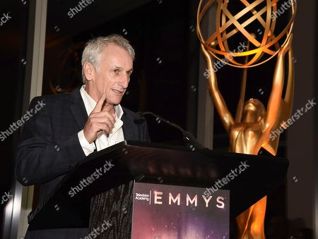Matt Craven speaks at the Television Academy's Casting Directors Nominee Reception at 1 Hotel West Hollywood, in West Hollywood, Calif