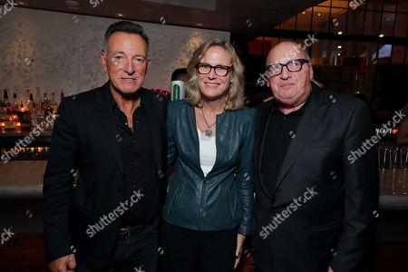 Bruce Springsteen, Ann Sarnoff, Chair and CEO of Warner Bros., Jon Landau, Manager/Producer,