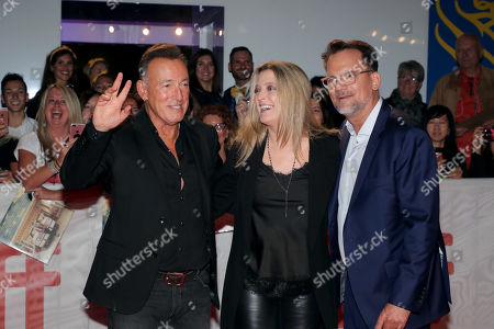 Stock Image of Bruce Springsteen, Carolyn Blackwood, President and Chief Content Officer, New Line Cinema, Thom Zimny, Director/Producer,