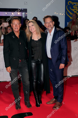 Stock Photo of Bruce Springsteen, Carolyn Blackwood, President and Chief Content Officer, New Line Cinema, Thom Zimny, Director/Producer,