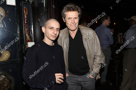 Moises Arias and Willem Dafoe