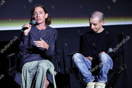 Julianne Nicholson and Moises Arias