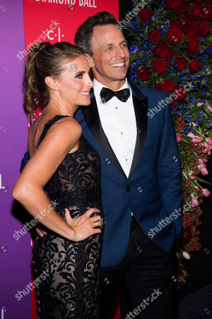 Alexi Ashe, Seth Meyers. Alexi Ashe and Seth Meyers attend the 5th annual Diamond Ball benefit gala at Cipriani Wall Street, in New York