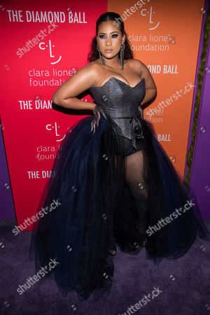 Stock Image of Cyn Santana attends the 5th annual Diamond Ball benefit gala at Cipriani Wall Street, in New York