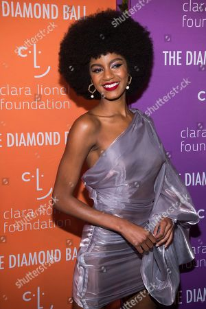 Ebonee Davis attends the 5th annual Diamond Ball benefit gala at Cipriani Wall Street, in New York