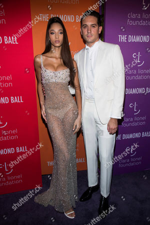 G-Eazy, Yasmin Wijnaldum. Yasmin Wijnaldum and G-Eazy attend the 5th annual Diamond Ball benefit gala at Cipriani Wall Street, in New York