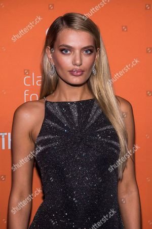 Stock Photo of Bregje Heinen attends the 5th annual Diamond Ball benefit gala at Cipriani Wall Street, in New York