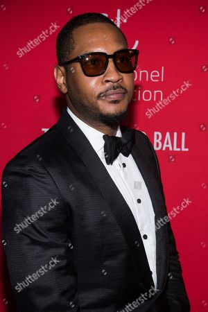 Stock Photo of Carmelo Anthony attends the 5th annual Diamond Ball benefit gala at Cipriani Wall Street, in New York