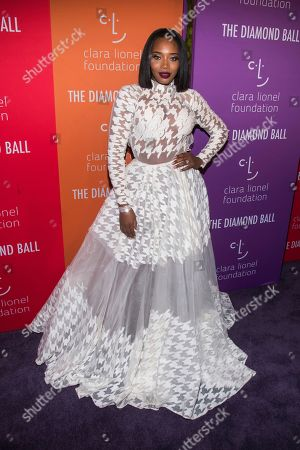Stock Image of Yandy Smith attends the 5th annual Diamond Ball benefit gala at Cipriani Wall Street, in New York