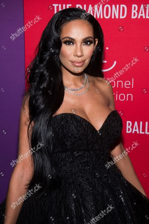 Erica Mena attends the 5th annual Diamond Ball benefit gala at Cipriani Wall Street, in New York