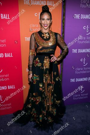 Paula Patton attends the 5th annual Diamond Ball benefit gala at Cipriani Wall Street, in New York