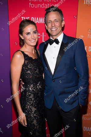 Seth Meyers, Alexi Ashe. Alexi Ashe and Seth Meyers attend the 5th annual Diamond Ball benefit gala at Cipriani Wall Street, in New York