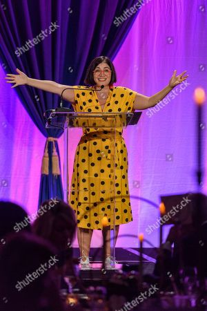 Stock Image of Negin Farsad, writer, director, actor and social justice comedian hosts the 7th annual Muhammad Ali Humanitarian Awards at the Louisville Marriott Downtown, in Louisville, Ky