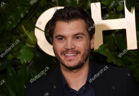 Emile Hirsch poses at the launch of the Gabrielle Chanel Essence fragrance at the Chateau Marmont, in Los Angeles