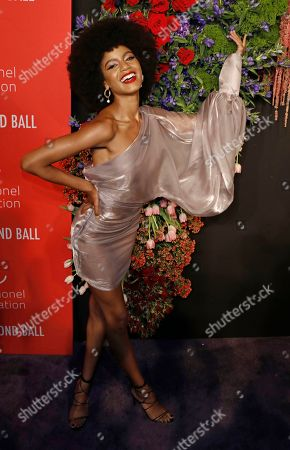 US model Ebonee Davis attends Rihanna's 5th Annual Diamond Ball, benefiting the Clara Lionel Foundation, at Cipriani Wall Street in New York, New York, USA, 12 September 2019.