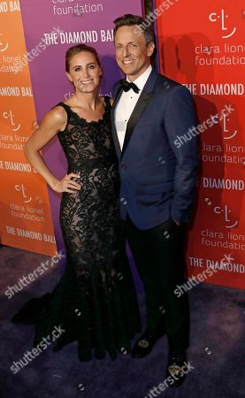 US television host Seth Myers (R) and wife Alexi (L) attend Rihanna's 5th Annual Diamond Ball, benefiting the Clara Lionel Foundation, at Cipriani Wall Street in New York, New York, USA, 12 September 2019.