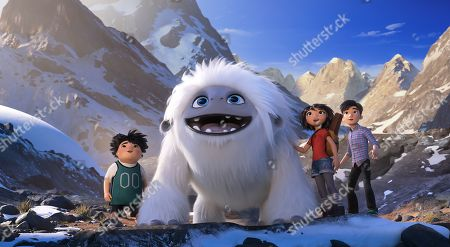 Peng (Albert Tsai), Everest the Yeti (Joseph Izzo) and Yi (Chloe Bennet) and Jin (Tenzing Norgay Trainor)
