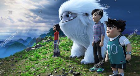 Yi (Chloe Bennet), Everest the Yeti (Joseph Izzo), Jin (Tenzing Norgay Trainor) and Peng (Albert Tsai)