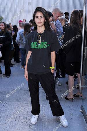 Editorial image of Fashion East show, Front Row, Spring Summer 2020, London Fashion Week, UK - 13 Sep 2019