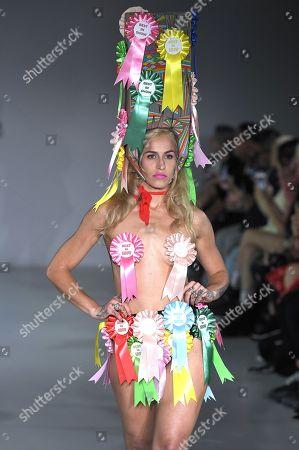 Alice Dellal on the catwalk
