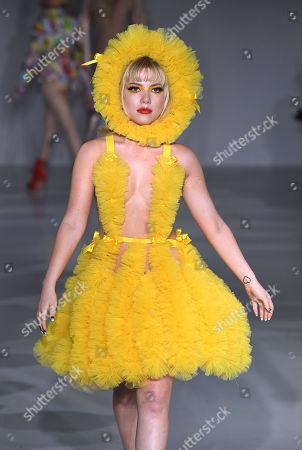 Stock Image of Ellie Rae Winstone on the catwalk