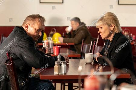 Christopher Fulford as John Godden and Imelda Staunton as Karen Edwards.