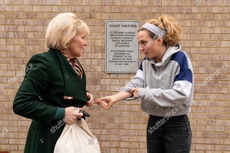 Stock Image of Imelda Staunton as Karen Edwards and Stephanie Hyam as Becky Gooden-Edwards.
