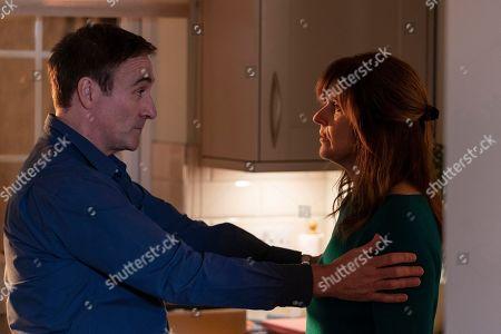 Derek Riddell as Pete and Siobhan Finneran as Elaine Pickford.