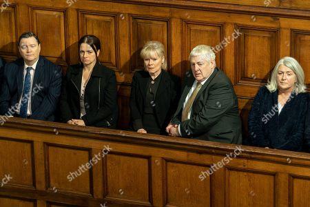 Ian Puleston-Davies as Mick O'Callaghan, Simone Lahbib as Debbie, Imelda Staunton as Karen Edwards and Peter Wight as Charlie Edwards.