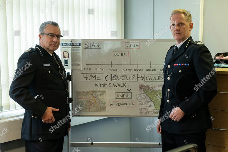 Stock Image of Gary Oliver as DCC Pat Geenty and David Keeling as CC Brian Moore.
