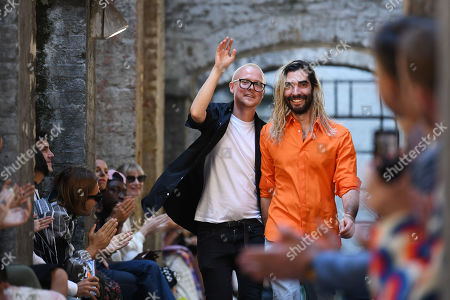 Fyodor Podgorny and Golan Frydman on the catwalk
