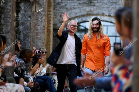 Stock Picture of Fyodor Podgorny and Golan Frydman on the catwalk