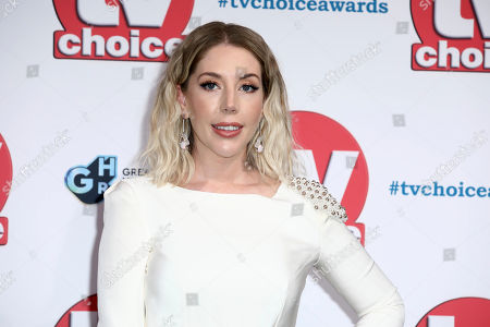 Katherine Ryan poses for photographers on arrival at the TV Choice Awards in central London on