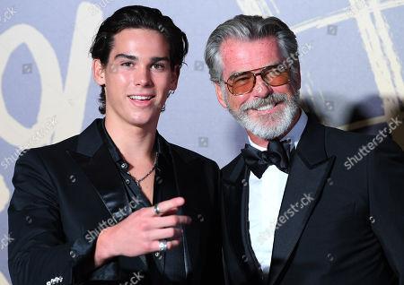 Pierce Brosnan and son Paris Brosnan