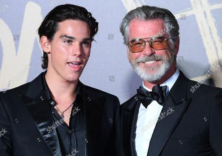 Stock Image of Pierce Brosnan and son Paris Brosnan