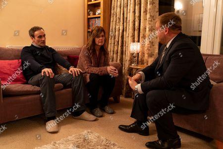 Siobhan Finneran as Elaine Pickford, Wain Arthur as DI Sean Memory and Derek Riddell as Peter.