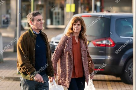 Siobhan Finneran as Elaine Pickford and Derek Riddell as Peter.