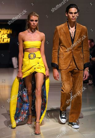Stock Image of Stella Maxwell and Paris Brosnan on the catwalk