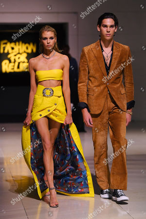 Editorial picture of Fashion For Relief, Runway, Spring Summer 2020, London Fashion Week, UK - 14 Sep 2019