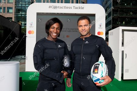Stock Picture of Maggie Alphonsi and Jason Robinson