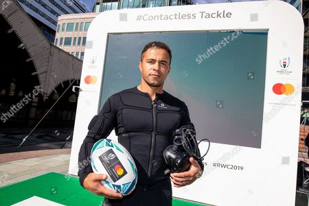 Editorial photo of Mastercard Contactless tackle experience in London, UK - 13 Sep 2019.