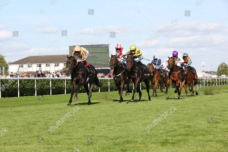 A'ALI (1) ridden by Frankie Dettori and trained by Simon Crisford winning The Group 2 Wainwright Flying Childers Stakes over 5f (£70,000)   during the third day of the St Leger Festival at Doncaster Racecourse, Doncaster