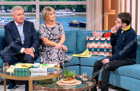 Stock Photo of Eamonn Holmes and Ruth Langsford with Jack Carroll