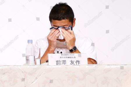 Zozo founder Yusaku Maezawa attends a press conference