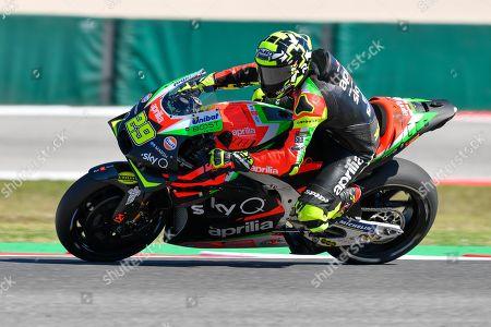 Italian MotoGP rider, number 29, Andrea Iannone, of the Aprilia Racing Team Gresini during the Friday Motogp FP2 of the Motorcycling Grand Prix of San Marino and Riviera di Rimini at the Misano Circuit in Misano Adriatico, Italy, 13 September 2019.