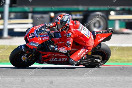 Italian MotoGP rider, number 9, Danilo Petrucci, of the Ducati Team during the Friday Motogp FP2 of the Motorcycling Grand Prix of San Marino and Riviera di Rimini at the Misano Circuit in Misano Adriatico, Italy, 13 September 2019.