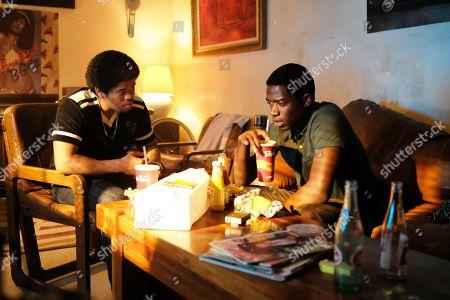 Isaiah John as Leon Simmons and Damson Idris as Franklin Saint